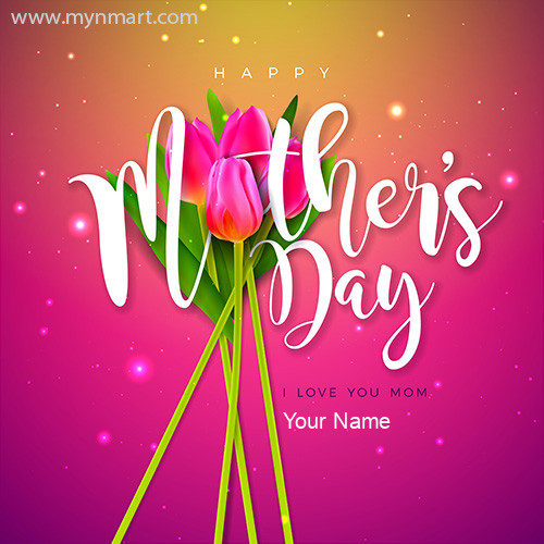 Happy Mother Day Pink Design Greeting 2020