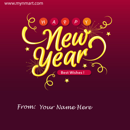 Happy New Year Greeting With Your Name