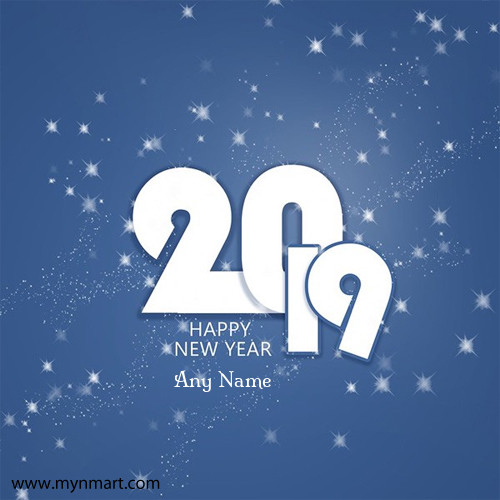 Happy New Year Simple Greeting with your name