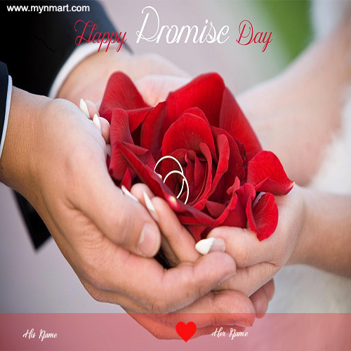 Happy Promise Day - Rose & Ring