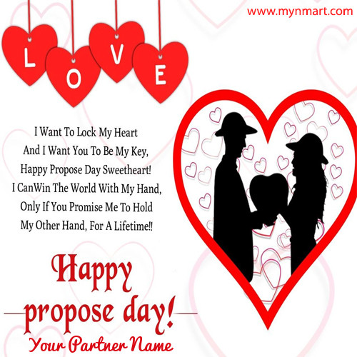 Happy Propose Day Message with Hearts and Quotes