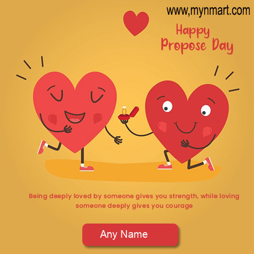 Happy Propose Day with Heart