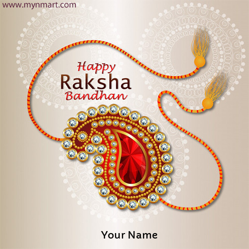 Happy Rakhi Greeting With Rakhi Design 2020