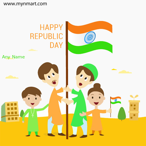 Happy Republic Day 2019 Greeting with Name