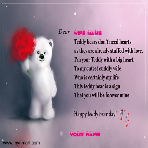 Happy Teddy Day for wife