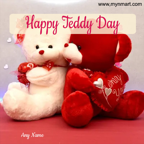 Happy Teddy Day with Two Teddy