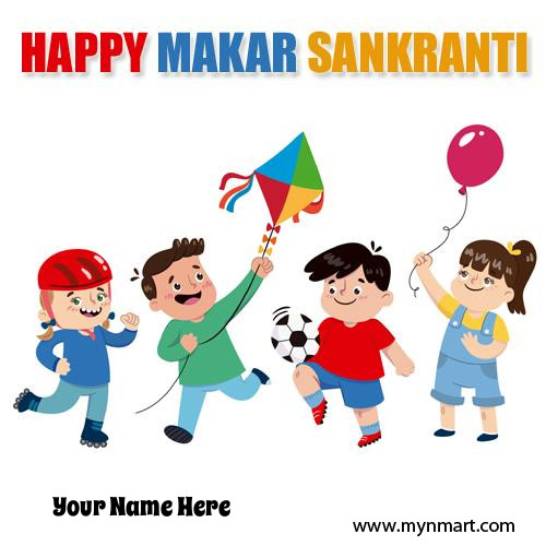 Happy Uttarayan 2018 Kite Festival Greeting With Name