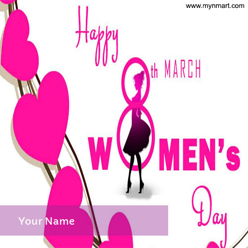 Happy Women's Day Pink Heart Image