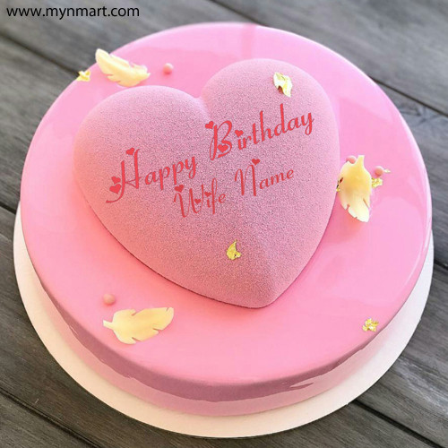 Heart Shape Birthday Cake For Wife