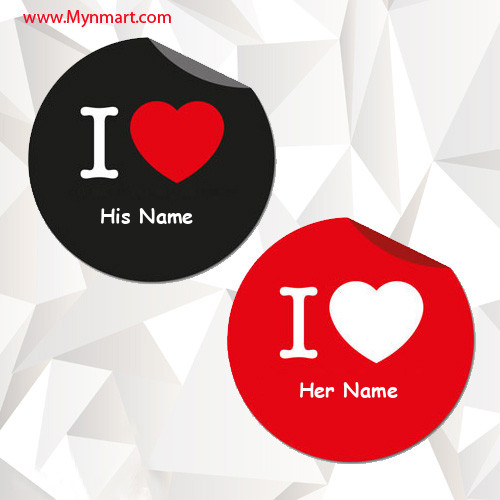 His and Her Name on Heart
