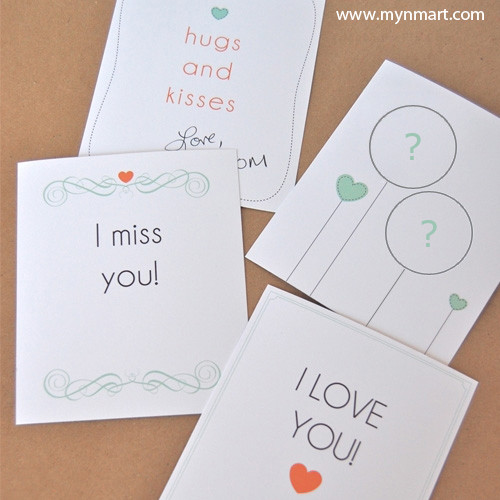 Hug And Kisses Alphabets Card