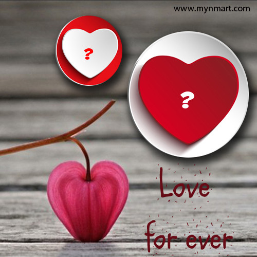 Love Forever Alphabet Heart Picture