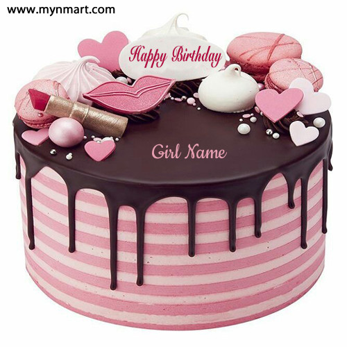 Lovely Beautiful Pink Birthday Cake For Girls