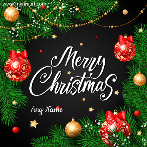 Merry Christmas 2018 Decorated Greeting Card