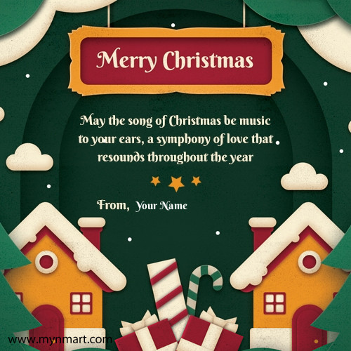 Merry Christmas 2018 Greeting and quotes with your name