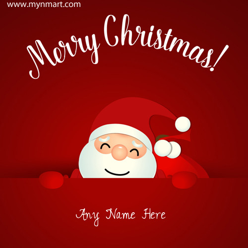 Merry Christmas Cute Santa Claus Greeting