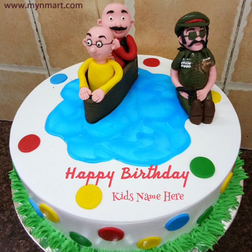 Motu Patlu Cake For Kids Birthday Wish