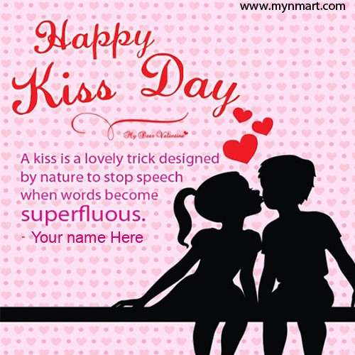 Name On Kiss Day Wishes Image