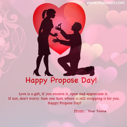 Name On Propose Day Quote Images