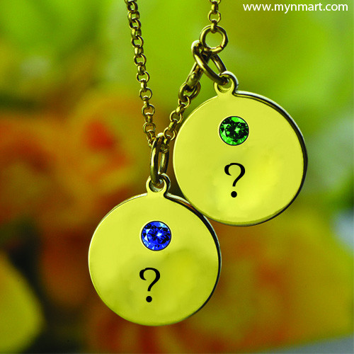 Personalize Alphabet on Necklace With stone Create Greeting with Your alphabets