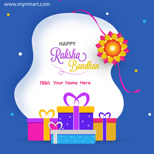 Raksha Bandhan Festival Special Elegant Card With Your Name