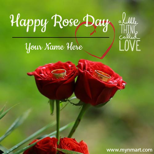 Romantic Couple Rose For Happy Rose Day