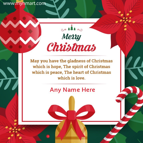 Sentimental Christmas wishes With your name on Card