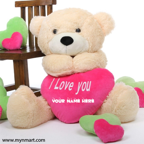Teddy Bear Saying I Love You