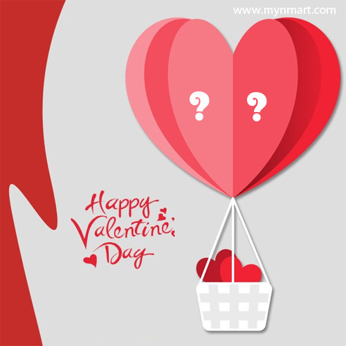 Valentine Day wish With Heart Balloon