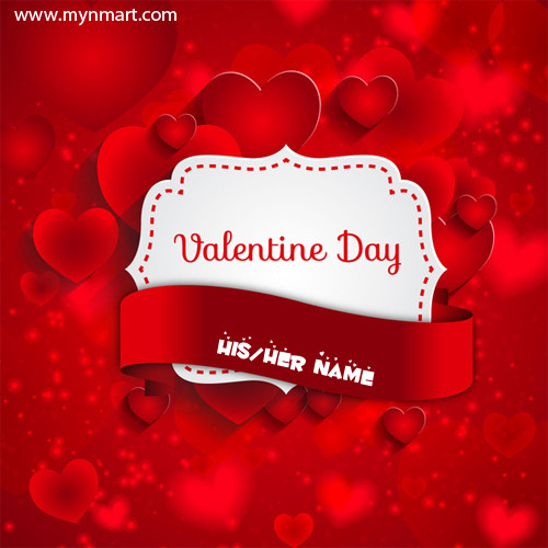 Valentine day wish with heart on card