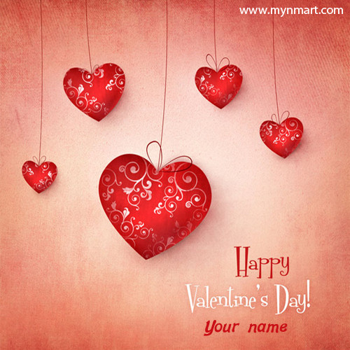 Valentine day with heart shape balloon