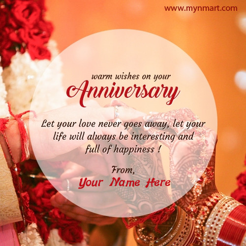 Warm wishes on your Anniversary greetings