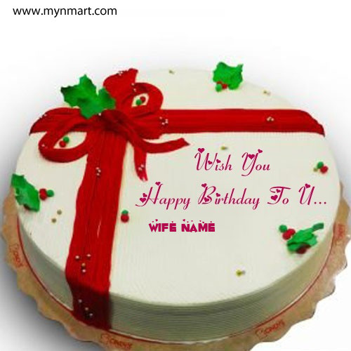 Wish You Happy Birthday Cake Image With Your Name