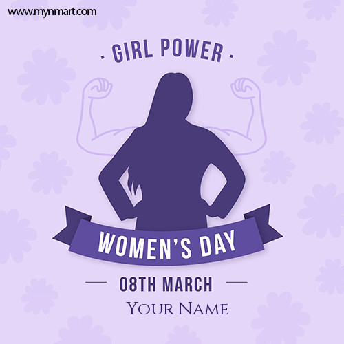 Women's Day Girls Power Greeting