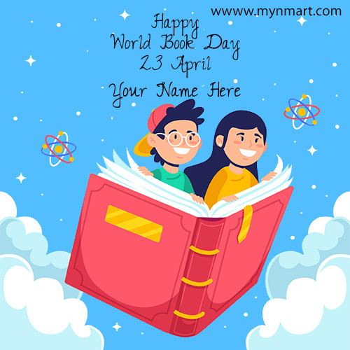 World Book Day Greeting With Your Name 2020